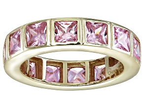 Bella Luce® 5.85ctw Pink Diamond Simulant 18k Yellow Gold Over Silver Ring