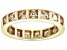 Bella Luce® 4.00ctw Champagne Diamond Simulant 18k Gold Over Silver Ring