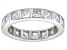 Bella Luce® 4.00ctw Princess Diamond Simulant Rhodium Over Silver Ring