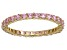 Bella Luce® 1.40ctw Pink Cubic Zirconia 18k Yellow Gold Over Silver Ring