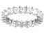 Bella Luce® 4.75ctw Princess Diamond Simulant Rhodium Over Silver Eternity Ring