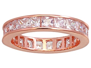 Cubic Zirconia 18k Rose Gold Over Silver Ring 4.75ctw