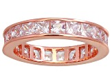 Bella Luce® 4.75ctw Princess Diamond Simulant 18k Rose Gold Over Silver Ring