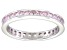 Bella Luce® 1.96ctw Princess Pink Diamond Simulant Rhodium Over Silver Ring