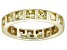Bella Luce® 4.00ctw Yellow Diamond Simulant 18k Yellow Gold Over Silver Ring
