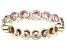 Bella Luce® 2.88ctw Pink Diamond Simulant 18k Yellow Gold Over Silver Ring