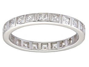 Bella Luce® 1.40ctw Diamond Simulant Rhodium Over Sterling Silver Ring