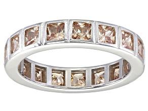 Bella Luce® 4.00ctw Champagne Diamond Simulant Rhodium Over Silver Ring