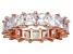 Bella Luce® 6.75ctw Princess Diamond Simulant 18k Rose Gold Over Silver Ring