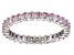 Bella Luce® 1.96ctw Pink Diamond Simulant Rhodium Over Silver Ring