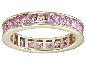 Bella Luce® 4.75ctw Pink Diamond Simulant 18k Yellow Gold Over Silver Ring