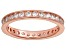 Bella Luce® 1.35ctw Round Diamond Simulant 18k Rose Gold Over Silver Ring