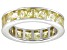 Bella Luce® 6.75ctw Princess Yellow Diamond Simulant Rhodium Over Silver Ring