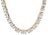 Bella Luce® 139.65ctw Oval Diamond Simulant 18k Gold Over Silver Necklace