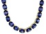 Bella Luce® 139.65ctw Oval Tanzanite Simulant 18k Gold Over Silver Necklace