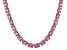 Bella Luce® 96.66ctw Oval Pink Diamond Simulant Rhodium Over Silver Necklace