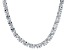 Bella Luce® 60.80ctw Oval Diamond Simulant Rhodium Over Silver Tennis Necklace