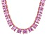Bella Luce® 146.30ctw Diamond Simulant 18k Gold Over Silver Tennis Necklace