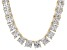 Bella Luce® 256.03ctw Princess Diamond Simulant 18k Gold Over Silver Necklace