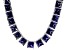Bella Luce® 256.03ctw Princess Tanzanite Simulant Rhodium Over Silver Necklace