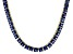 Bella Luce® 46.17ctw Princess Tanzanite Simulant 18k Gold Over Silver Necklace