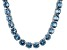Bella Luce® 79.52ctw Apatite Simulant Rhodium Over Silver Tennis Necklace