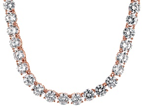 Bella Luce® 126.64ctw Round Diamond Simulant 18k Gold Over Silver Necklace