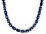 Bella Luce® 60.80ctw Oval Tanzanite Simulant Rhodium Over Silver Necklace
