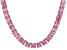 Bella Luce® 134.66ctw Pink Diamond Simulant Rhodium Over Silver Necklace