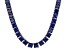 Bella Luce® 134.66ctw Princess Tanzanite Simulant Rhodium Over Silver Necklace