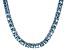 Bella Luce® 53.11ctw Princess Apatite Simulant Rhodium Over Silver Necklace