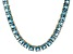 Bella Luce® 53.11ctw Princess Apatite Simulant 18k Gold Over Silver Necklace