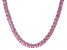 Bella Luce® 46.17ctw Pink Diamond Simulant Rhodium Over Silver Necklace