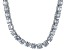 Bella Luce® 126.64ctw Diamond Simulant Rhodium Over Silver Tennis Necklace