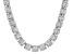 Bella Luce® 174.42ctw Diamond Simulant Rhodium Over Silver Tennis Necklace