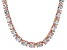 Bella Luce® 96.66ctw Oval Diamond Simulant 18k Rose Gold Over Silver Necklace