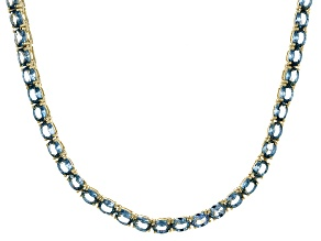 Bella Luce® 19.86ctw Oval Apatite Simulant 18k Gold Over Silver Necklace