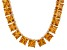 Bella Luce® 256.03ctw Yellow Diamond Simulant 18k Gold Over Silver Necklace
