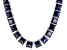 Bella Luce® 146.30ctw Princess Tanzanite Simulant Rhodium Over Silver Necklace
