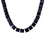 Bella Luce® 134.66ctw Tanzanite Simulant 18k Gold Over Silver Necklace