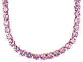 Bella Luce® 126.64ctw Pink Diamond Simulant 18k Rose Gold Over Silver Necklace