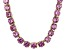 Bella Luce® 174.42ctw Pink Diamond Simulant 18k Gold Over Silver Necklace