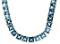 Bella Luce® 117.56ctw Princess Apatite Simulant 18k Gold Over Silver Necklace