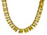 Bella Luce® 146.30ctw Yellow Diamond Simulant Rhodium Over Silver Necklace