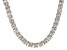 Bella Luce® 77.62ctw Princess Diamond Simulant 18k Gold Over Silver Necklace