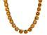 Bella Luce® 174.42ctw Champagne Diamond Simulant Rhodium Over Silver Necklace