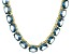 Bella Luce® 88.45ctw Oval Apatite Simulant 18k Gold Over Silver Necklace