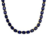 Bella Luce® 96.66ctw Oval Tanzanite Simulant 18k Gold Over Silver Necklace