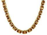 Bella Luce® 60.80ctw Champagne Diamond Simulant 18k Gold Over Silver Necklace
