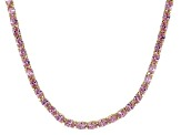 Bella Luce® 26.13ctw Oval Pink Diamond Simulant 18k Gold Over Silver Necklace